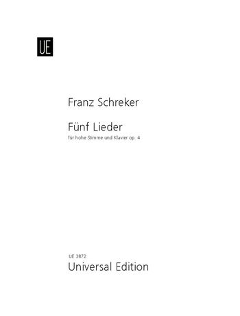 Fuenf Lieder Op. 4 : For High Voice and Piano.
