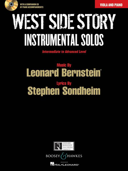 West Side Story - Instrumental Solos : For Viola and Piano / arranged by Joshua Parman.
