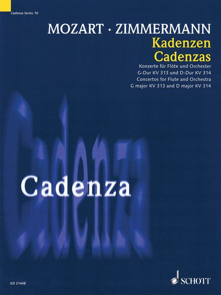 Cadenzas For Concertos For Flute and Orchestra In G Major K. 313 and In D Major K. 314 by Mozart.