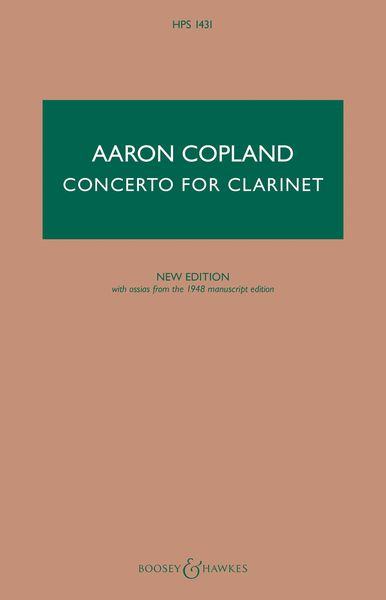 Concerto : For Clarinet and String Orchestra, With Harp and Piano (1948) / edited by Philip Rothman.