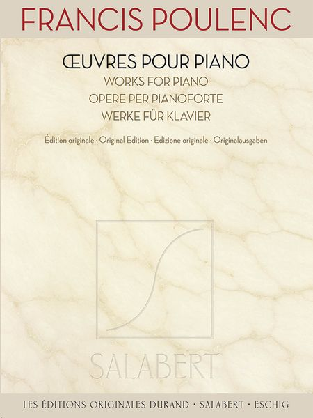 Oeuvres Pour Piano = Works For Piano : Original Edition.