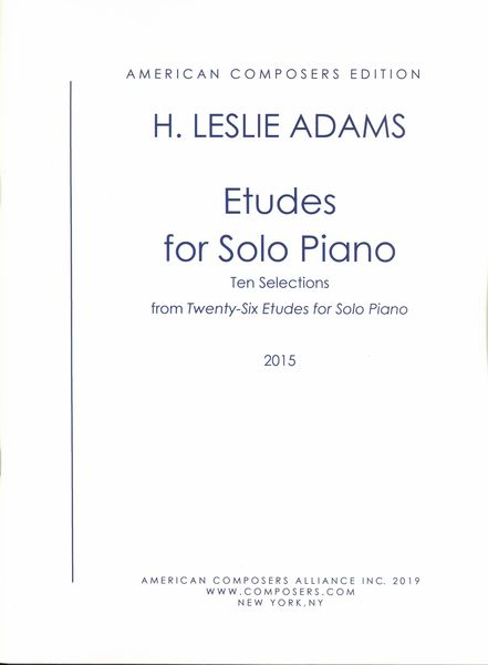 Etudes : For Solo Piano - Ten Selections From Twenty-Six Etudes For Solo Piano (2014).