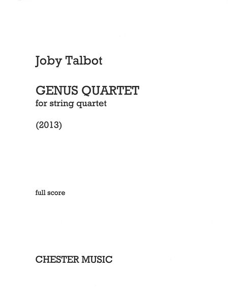 Genus Quartet : For String Quartet (2013).