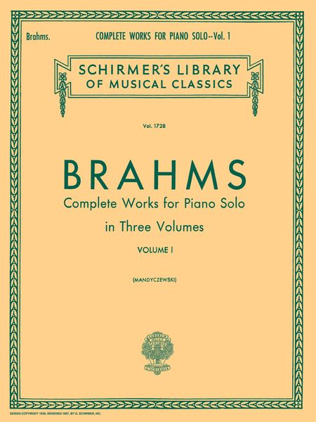 Complete Works, Vol. 1 : For Solo Piano.