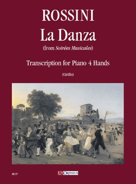 Danza, From Soirées Musicales : For Piano 4 Hands.