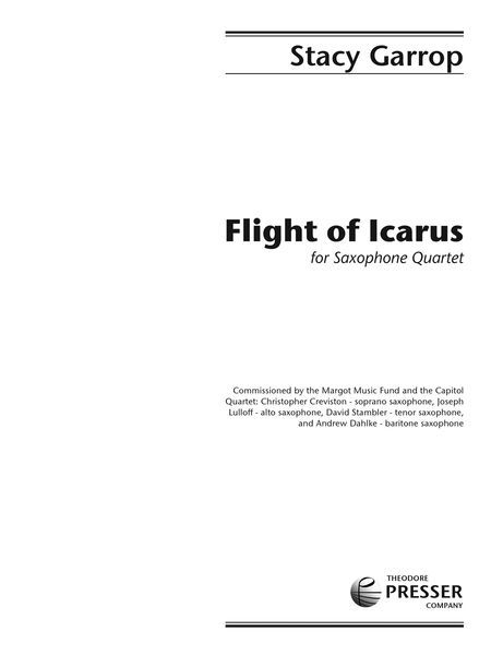 Flight Of Icarus : For Saxophone Quartet (2012).