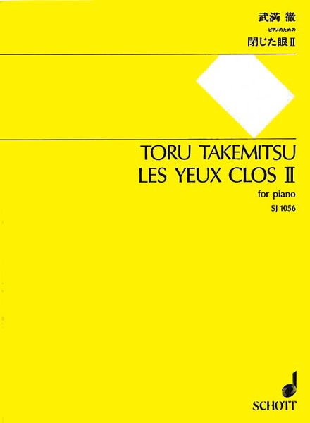 Yeux Clos II : For Piano.