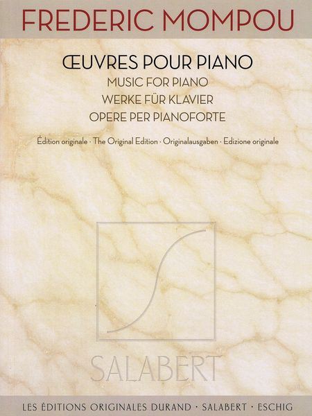 Oeuvres Pour Piano.