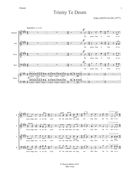 Trinity Te Deum : For SATB Choir, 3 Trumpets, 3 Trombones, Percussion, Harp, and Organ.