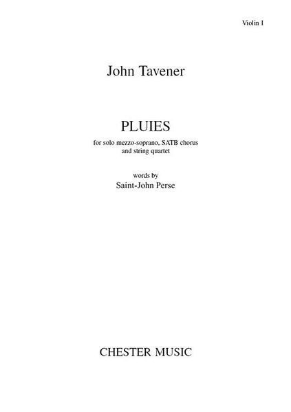 Pluies : For Solo Mezzo-Soprano, SATB Chorus and String Quartet.