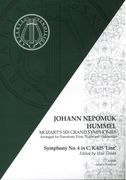 Symphony No. 4 In C, K. 425 (Linz) : For Pianoforte, Flute, Violin and Cello / arr. J. N. Hummel.