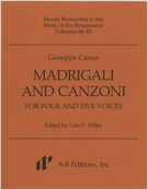Madrigali & Canzoni For 4 & 5 Voices : 2 Volumes.