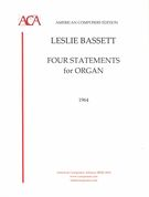 Four Statements : For Organ (1964).