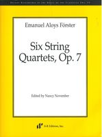Six String Quartets, Op. 7 / edited by Nancy November.
