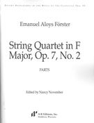 String Quartet In F Major, Op. 7 No. 2 / edited by Nancy November.