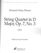 String Quartet In D Major, Op. 7 No. 3 / edited by Nancy November.
