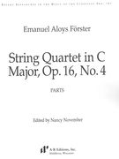 String Quartet In C Major, Op. 16, No. 4 / edited by Nancy November.