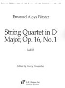 String Quartet In D Major, Op. 16, No. 1 / edited by Nancy November.