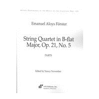 String Quartet In B Flat Major, Op. 21 No. 5 / edited by Nancy November.