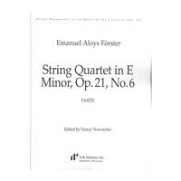 String Quartet In E Minor, Op. 21 No. 6 / edited by Nancy November.