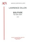 Solitude : For Solo Violin (2016).