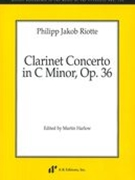 Clarinet Concerto In C Minor, Op. 36 / edited by Martin Harlow.