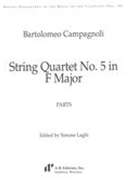 String Quartet No. 5 In F Major / edited by Simone Laghi.