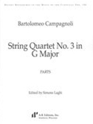 String Quartet No. 3 In G Major / edited by Simone Laghi.