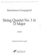 String Quartet No. 1 In D Major / edited by Simone Laghi.