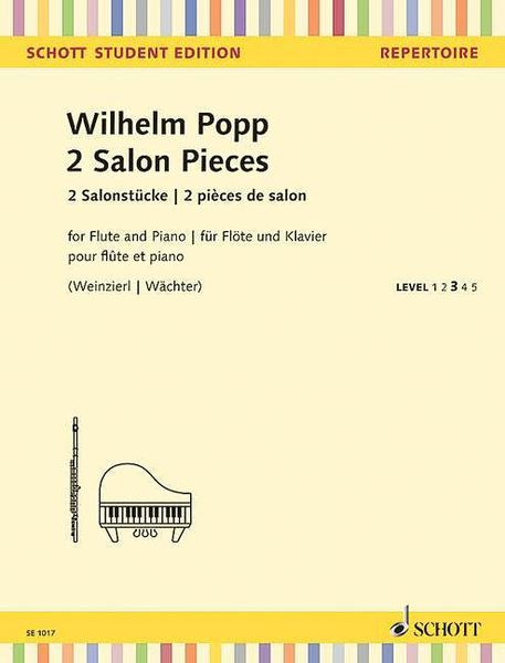 2 Salon Pieces : For Flute and Piano / edited by Elisabeth Weinzierl and Edmund Wächter.