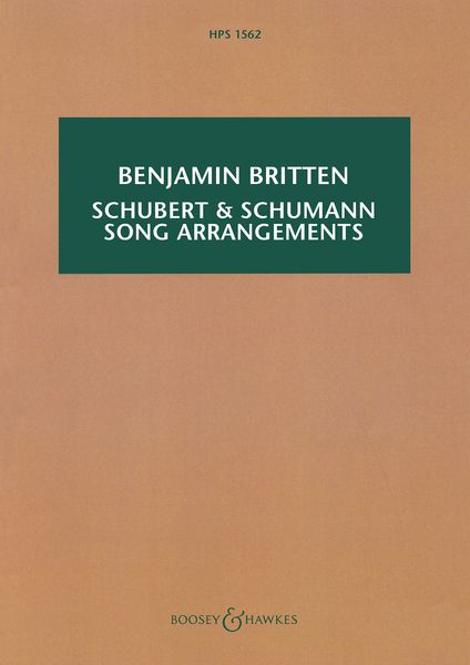 Schubert & Schumann Song Arrangements.