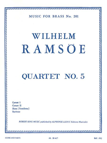Quartet No. 5, Op. 38, In B Flat Major : For Cornets, Horn, and Tuba.