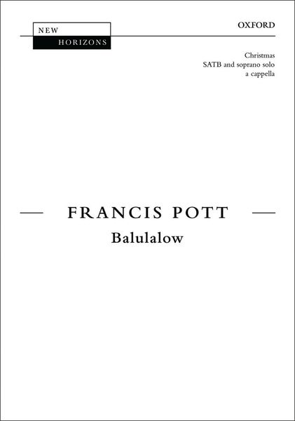 Balulalow : For SATB With Soprano Solo A Cappella.