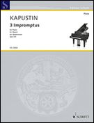 Three Impromptus, Op. 66 : For Piano Solo - Authorized Edition.