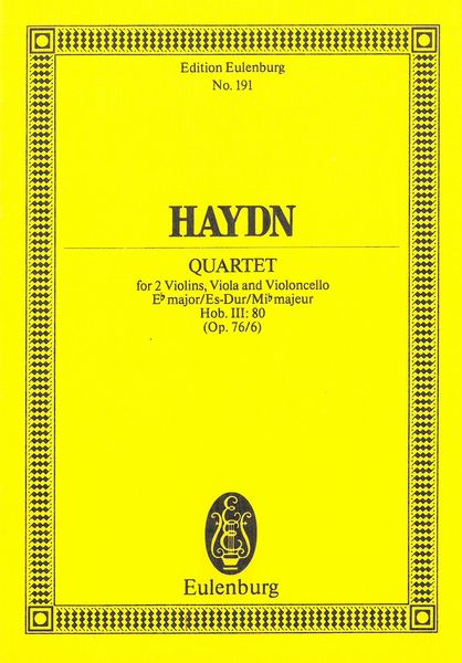 String Quartet In E Flat Major, Op. 76 No. 6 : Hob.III:80.