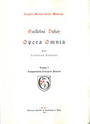 Opera Omnia, Vol. 5 : Cantiones / edited by Heinrich Besseler.
