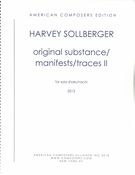 Original Substance/Manifests/Traces II : For Solo Shakuhachi (2012).