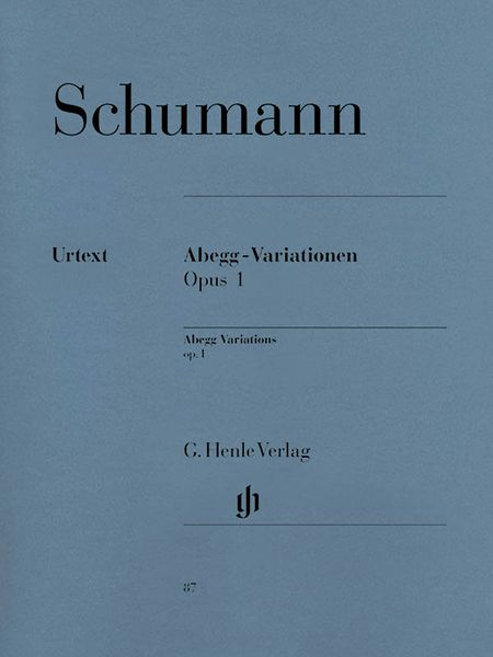 Abegg-Variationen, Op. 1 : For Piano / edited by Ernst Herttrich.