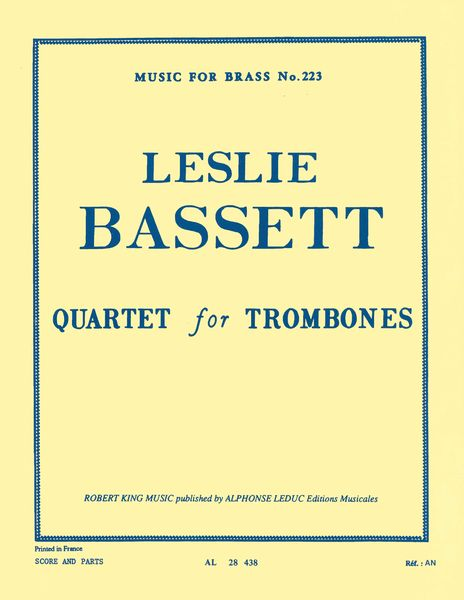 Quartet : For Trombones.