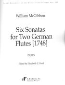 Six Sonatas For Two German Flutes (1748) / Ed. Elizabeth C. Ford.