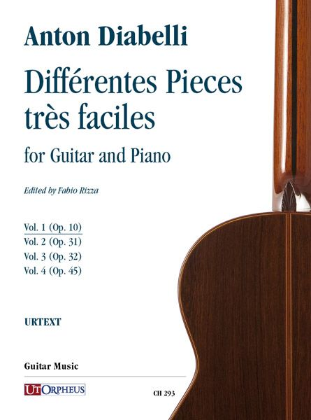 Différentes Pieces Très Faciles : For Guitar and Piano - Vol. 1 : Op. 10 / Ed. Fabio Rizza.