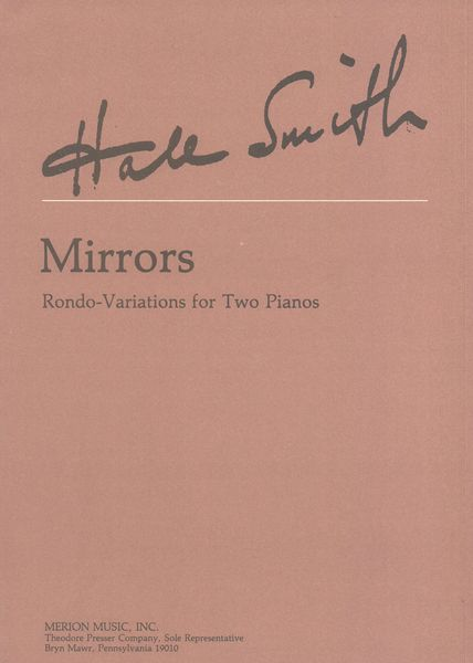 Mirrors : Rondo Variations For Two Pianos (1988).