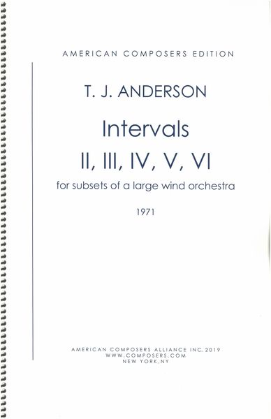 Intervals - Sets II, III, IV, V, VI : For Smaller Subsets of The Large Wind Orchestra (1971).
