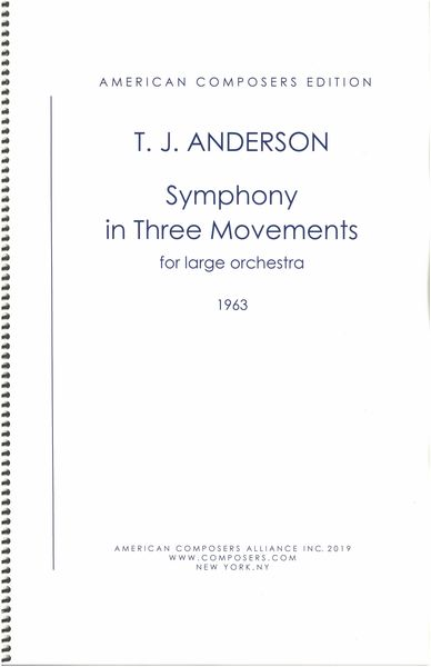 Symphony In Three Movements : For Large Orchestra (1963).