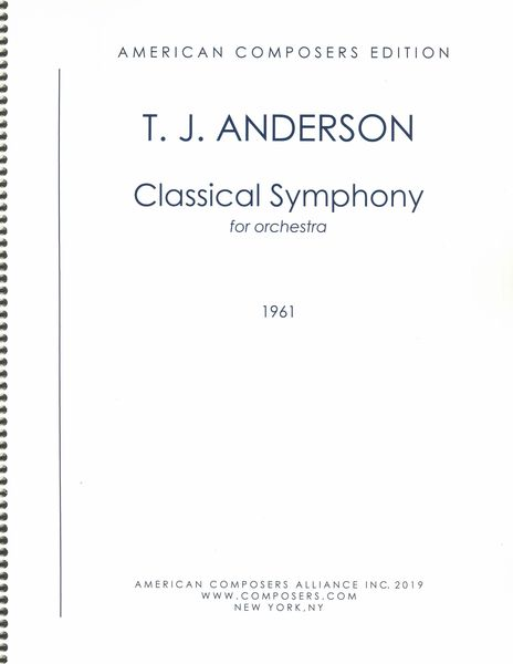 Classical Symphony : For Orchestra (1961).