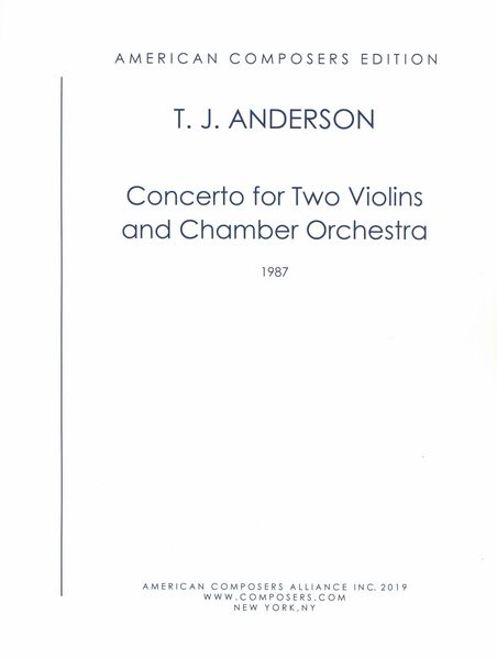 Concerto : For Two Violins and Chamber Orchestra (1987).