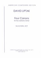 Four Canons : For Two Clarinets In B Flat (Second Edition, 2019).