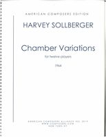 Chamber Variations : For Twelve Players and Conductor (1964).