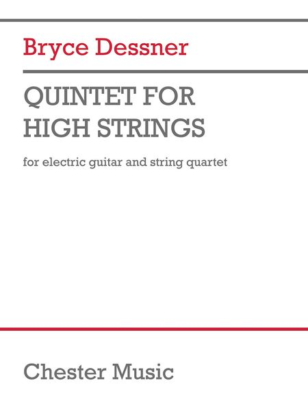 Quintet For High Strings : For Guitar and String Quartet.