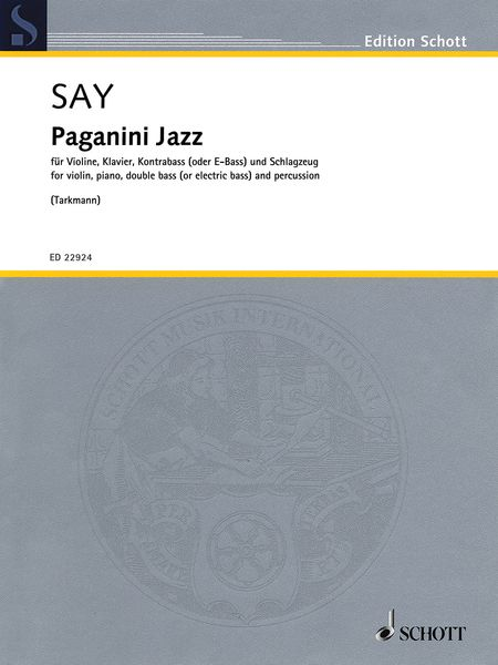 Paganini Jazz : For Violin, Piano, Double Bass (Or Electric Bass) and Percussion.